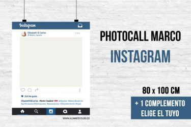 Photocall marco redes sociales, instagram.